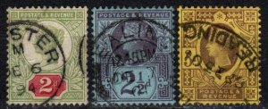 Great Britain #113-5  F-VF Used CV $20.50 (X1186)