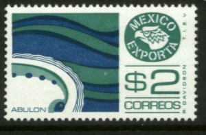 MEXICO Exporta 1117a $2P Abalone Unwmkd Fosfo Paper 5 MINT, NH. VF.