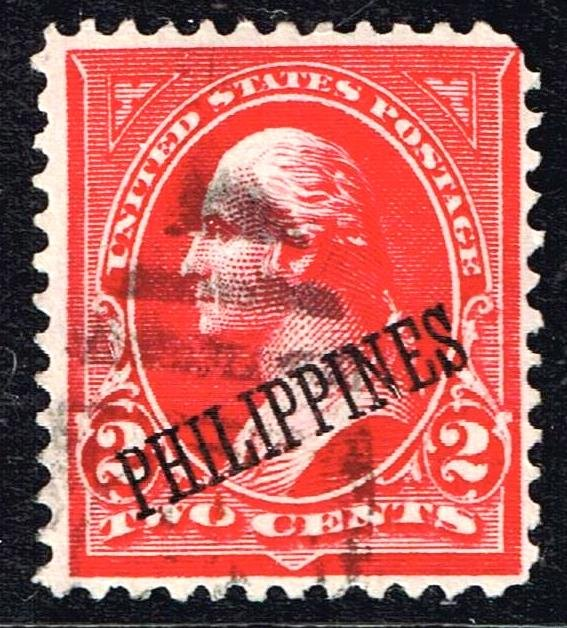 Philippines Stamp # 214 1899 -1901 USA Stamps Ovpt  PHILIPPINES  USED