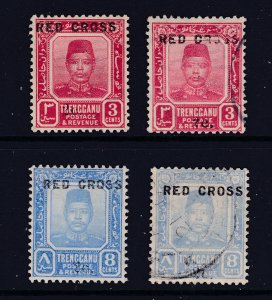 Trengganu the 1917 Red Cross set 2MH 2 U