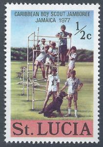 St. Lucia - SC# 419 - MNH - SCV $0.25 - Boy Scout Jamboree