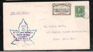 Canada #CL41 Used On Pilot Signed Cover Rolling Portage To Red Lake