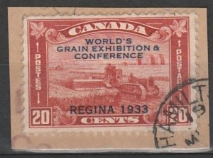 #203 Canada Used on paper