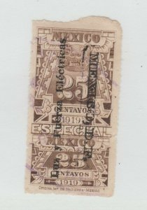 Mexico Cinderella Revenue Fiscal stamp 2-22 -