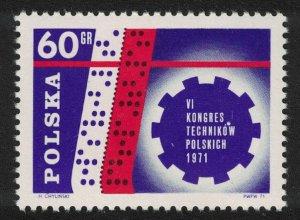 Poland 6th Polish Technical Congress Warsaw 1971 MNH SG#2083