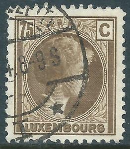 Luxembourg, Sc #175, 75c Used