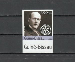 Guinea Bissau, 2004 issue. Paul Harris & Rotary Logo, IMPERF value from set.