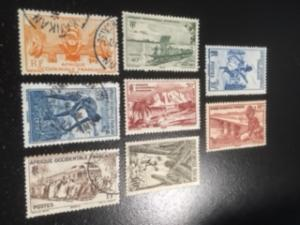 French West Africa sc 36-40,45,48,52 MH,Mng,U