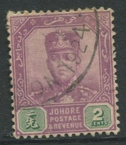 STAMP STATION PERTH Johore #88 Sultan Ibrahim Definitive  Wmk 3  Used 1918-1920