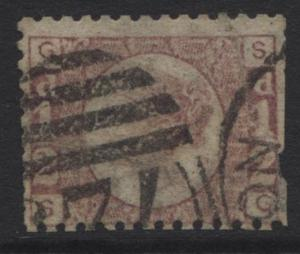 Great Britain - Scott 58 - QV Head - 1870 - Plate 5 - Rose - 1/2p Stamp - Lot 1