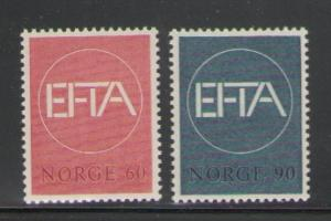 Norway Sc 500-1 1967 EFTA stamps mint NH