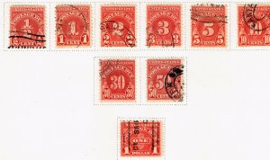 US STAMP BOB POSTAGE DUE USED STAMP COLLECTION LOT