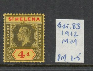 ST HELENA 1912 4D BLACK-RED/YELLOW MINT SG83
