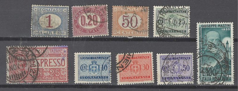 COLLECTION LOT # 2521 ITALY BOB 9 STAMPS 1875+ CV+$12