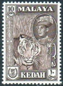 Kedah 1959 10c Tiger MH