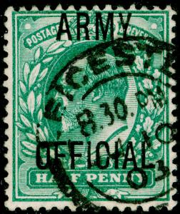 SGO48, ½d blue-green, FINE USED, CDS.
