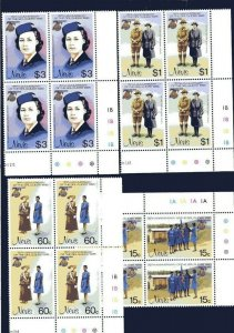 1985 Scouts Nevis Girl Guides 75th anniv plate blocks