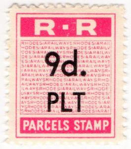 (I.B) Rhodesia Railways : Parcels Stamp 9d
