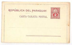 UU402 Paraguay Blank Unused Postcard {samwells-covers}