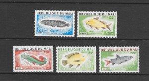 FISH - MALI #256-60 MNH