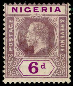 NIGERIA SG25, 6d dull purple & bright purple, M MINT. Cat £13.
