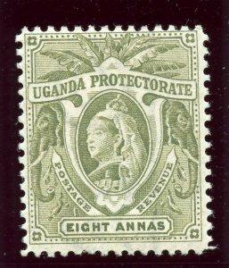 Uganda 1898 QV 8a grey-green MLH. SG 89a.