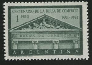 Argentina Scott 625 MNH** 1954 Buenos Aires Stock Exchange