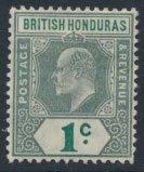 British Honduras SG 84a SC # 62 MH Multiple Crown CA perf 14 see scans and de...