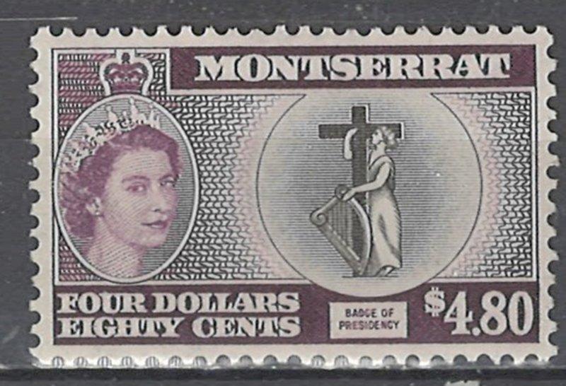 COLLECTION LOT # 2572 MONTSERRAT #149 MH 1958 CV=$14.50