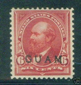 GUAM Scott 6 MH* 19th century OPT Garfield stamp