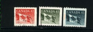 Canada #1394-96   -4   used VF 1992 PD