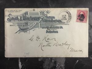 1890 Boston USA Commercial Cover To North Hampton Smith&winchester Co