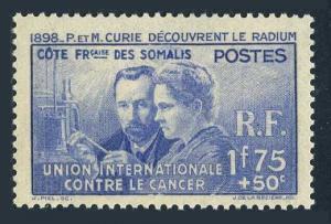 Fr Somali Coast B2,MNH.Michel 149. Pierre and Marie Curie,1938.