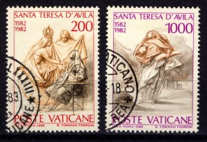 Vatican City 1982 400th Death Anniv of St Theresa of Avila, Part Set [Used]