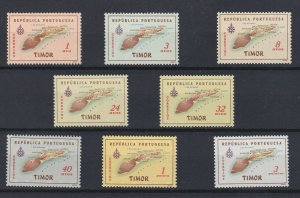 D - Timor Map 1956 MNH with aderences #295/302