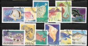Guinea 795 - 806 used 2017 SCV $5.55 - Fish  -  10645