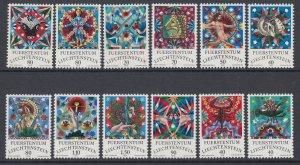 Liechtenstein 598-609 MNH VF