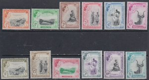 1956 Swaziland Scott 55-66 Queen and various MlH