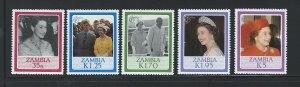 Zambia MNH 343-7 QE II 60th Birthday 1986