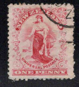 New Zealand Scott 108 Used carmine colored stamp