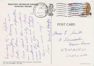 Airmail Issues 36c Sikorsky 1989 Jacksonville, FL 322 PPC Airmail to Edinbur...