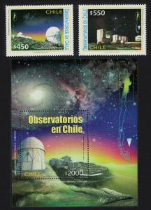 Chile Observatories Astronomy 2v+MS SG#2057-MS2059 MI#2078-2079+Block 54