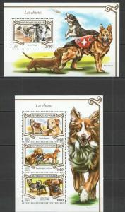 Niger 2015 domestic animals dogs klb+s/s MNH