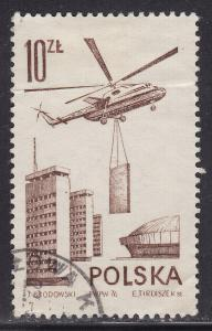 Poland C54 USED 1976 Mi6 Transport Helicopter 10zł