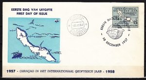 Netherlands Antilles. Scott cat. 241. Geophysical Year issue. First day cover. ^