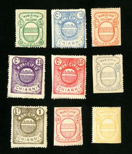 Italy Stamps 9x Chianni Revenues NH Scarce