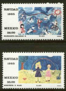 MEXICO 1412-1413 Christmas Holidays 1985 MNH