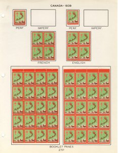 US #XMAS SEALS 1939 perfed booklet panes,  Mint seals, all mounted to stock p...