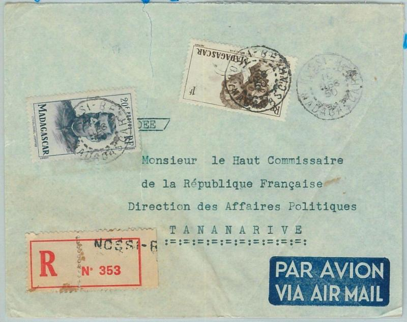 67328 -  FRENCH COLONIES: MADAGASCAR - Postal History - COVER from NOSSI BE 1950