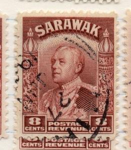 Sarawak 1934 early Brooke Issue Fine Used 8c. 196180